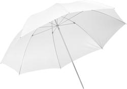 Белый зонт для профессиональной фотовспышки